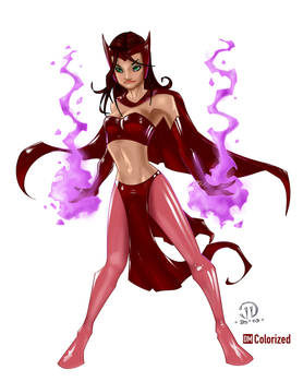 Scarlet Witch - Colorized
