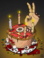 Zombie Birthday Cake by DanielMead