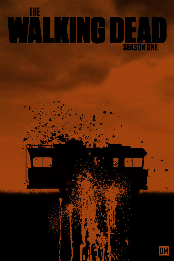 the walking dead season 1 poster by danielmead on deviantart. Black Bedroom Furniture Sets. Home Design Ideas