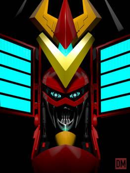 RGA (Robot God Akamatsu) 3D Render