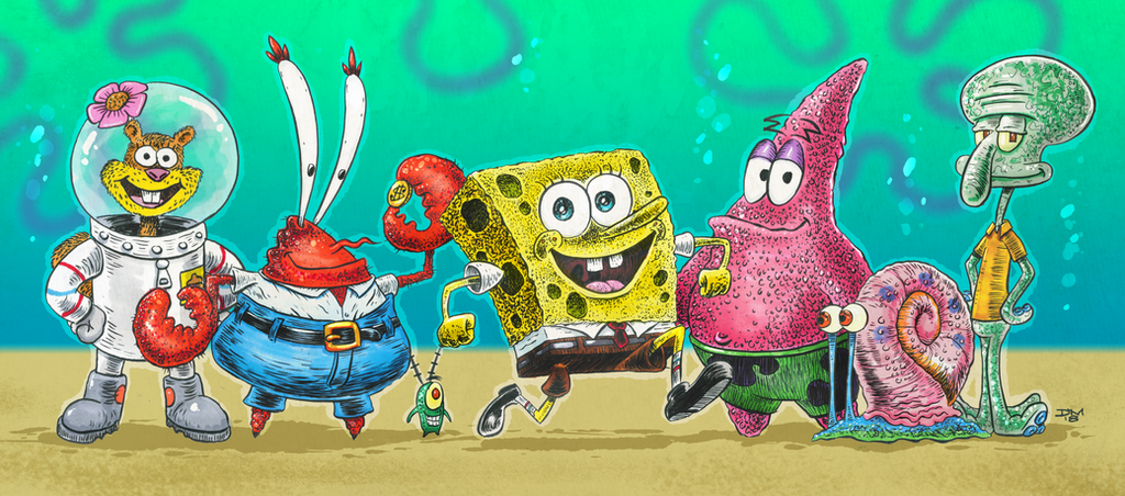 Sponge Bob Square Pants Characters by DanielMead