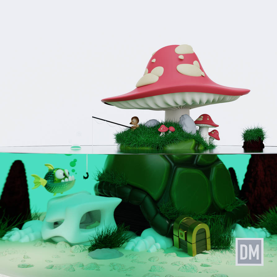 Derek Laufman's Shell Island by DanielMead