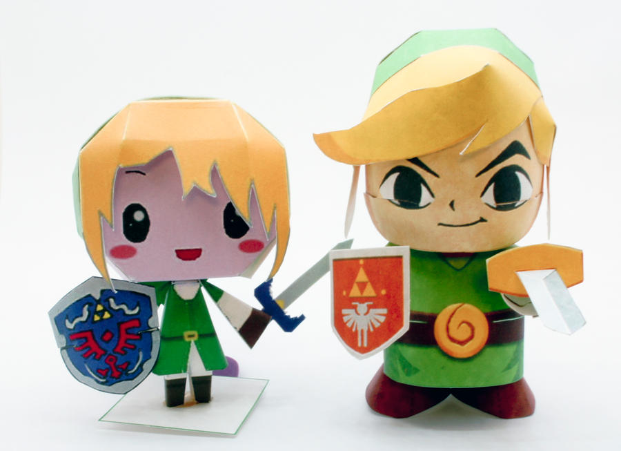 Papercraft Link Template Chibi Links Papercraft by