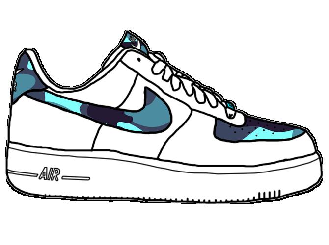 Nike Air Force One Marine Blue By TakalakaSNK ...