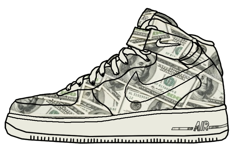 nike air force 1 dibujo