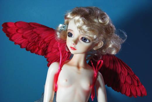 Dark Pink angel wings