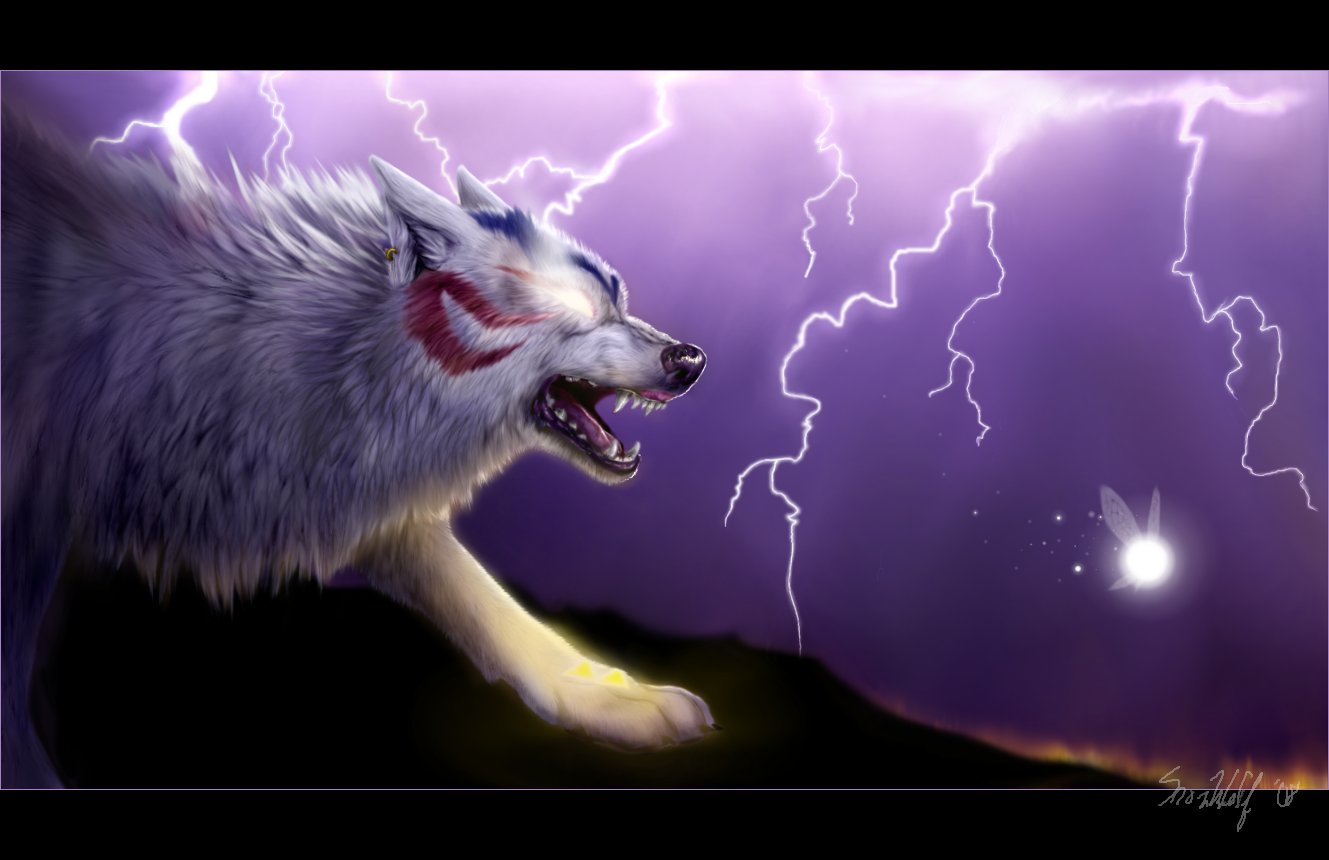 wolves and lightning wallpapers - photo #13