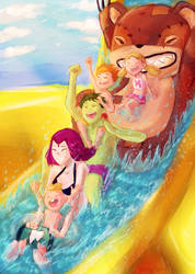 Family Trip - Water Park by FelynxTiger