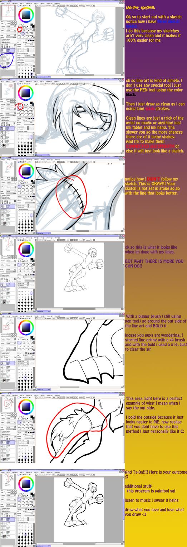 Line Art Tutorial : My line art tutorial by mangoweasel on deviantart