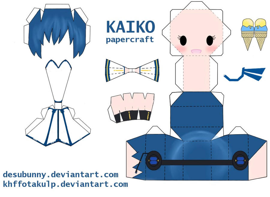 Kaiko papercraft by ~KHFFotakuLP on deviantART