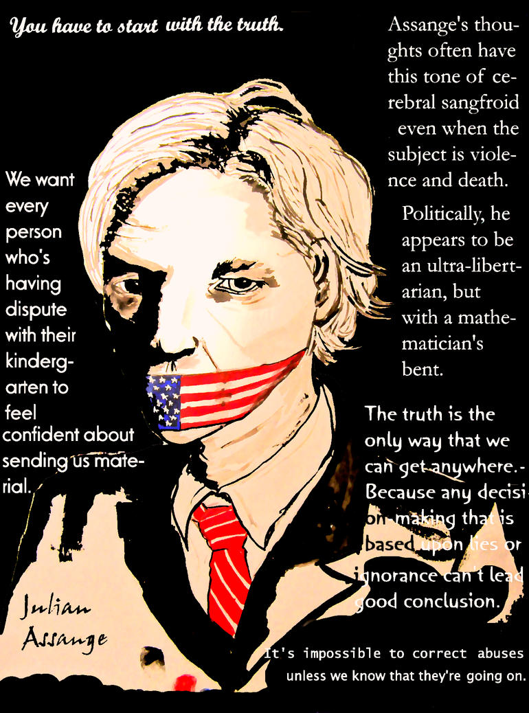 Julian Assange by Katesmile