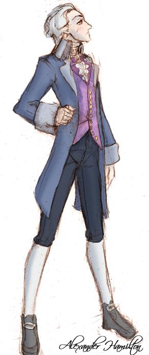 Alexander Hamilton Doodle by VoidStone