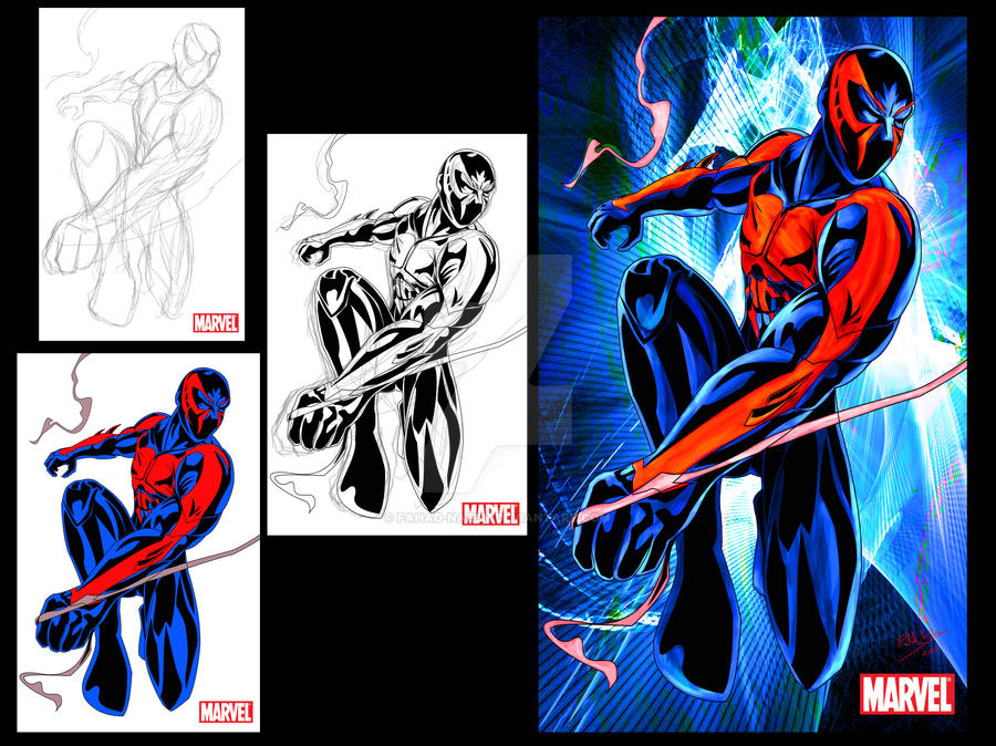 Spider-man 2099 design by Fahad-Naeem