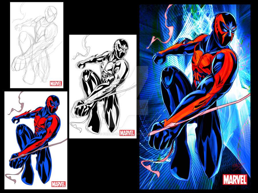 Spider-man 2099 Design By Fahad-Naeem On DeviantArt