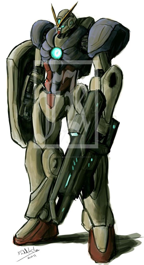 Gundam 1 by Fahad-Naeem