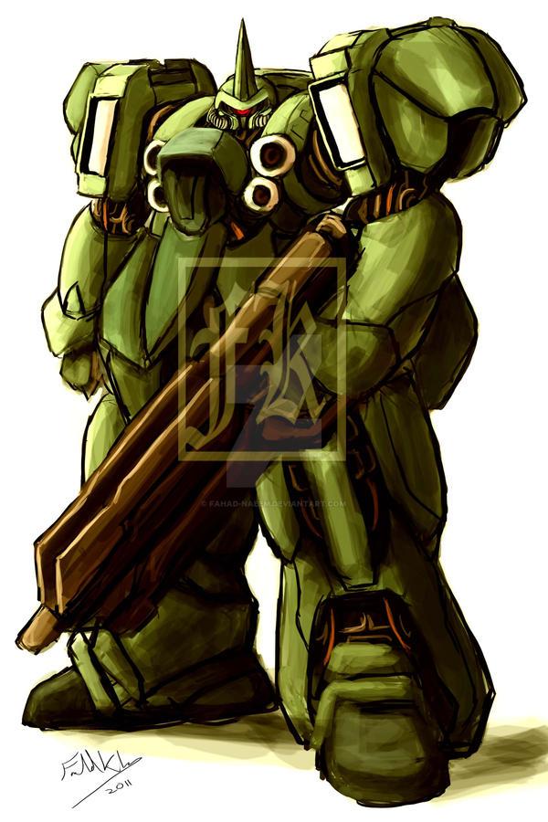 Gundam's enemy soldier by Fahad-Naeem
