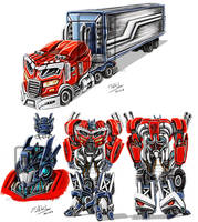 Optimus Prime G1 BadA## by Fahad-Naeem