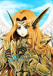 Angel (colored) by Fahad-Naeem