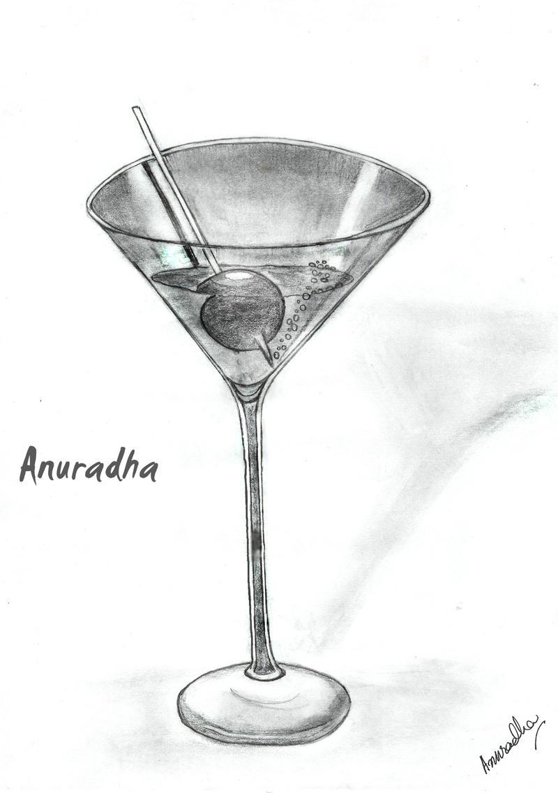 Draw A Martini Glass