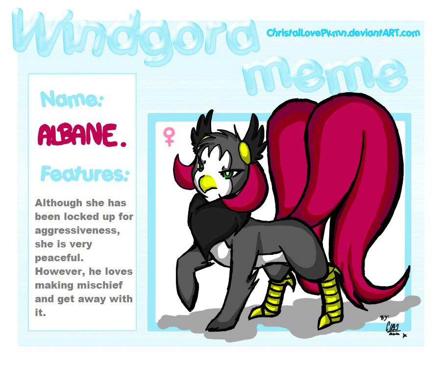 Windgora meme: Albane by ChristalLovePkmn