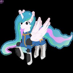 Princess Celestia in Vault Suit.