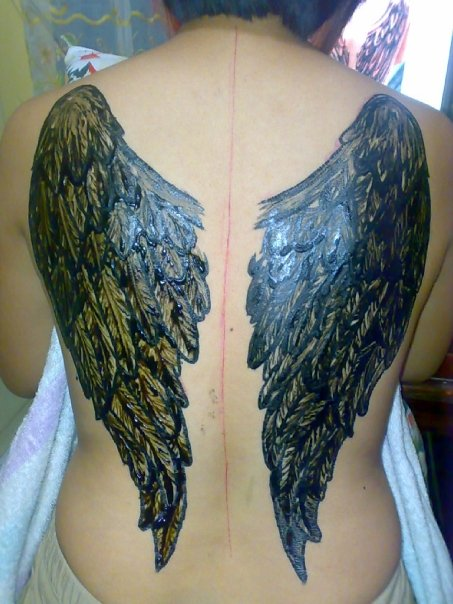 My Henna Angel Wings By Jayfampeloquio On Deviantart