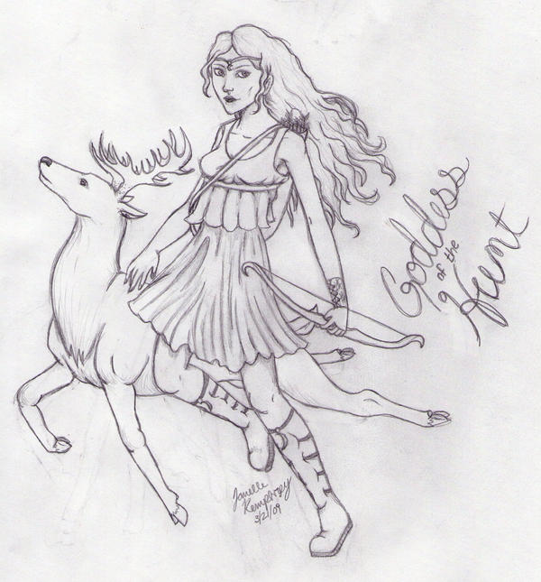 Artemis- Goddess of the Hunt by - 76.9KB