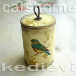 decorative tins made by napkin decoupage 2