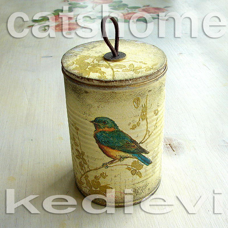 Decorative Tins Made By Napkin Decoupage 2 By Catshome On
