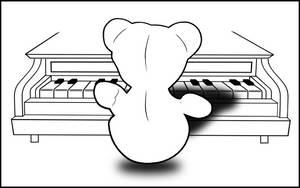 Piano Bear by Descyber