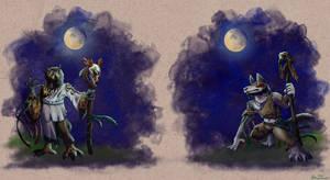 Shamans under the moonlight