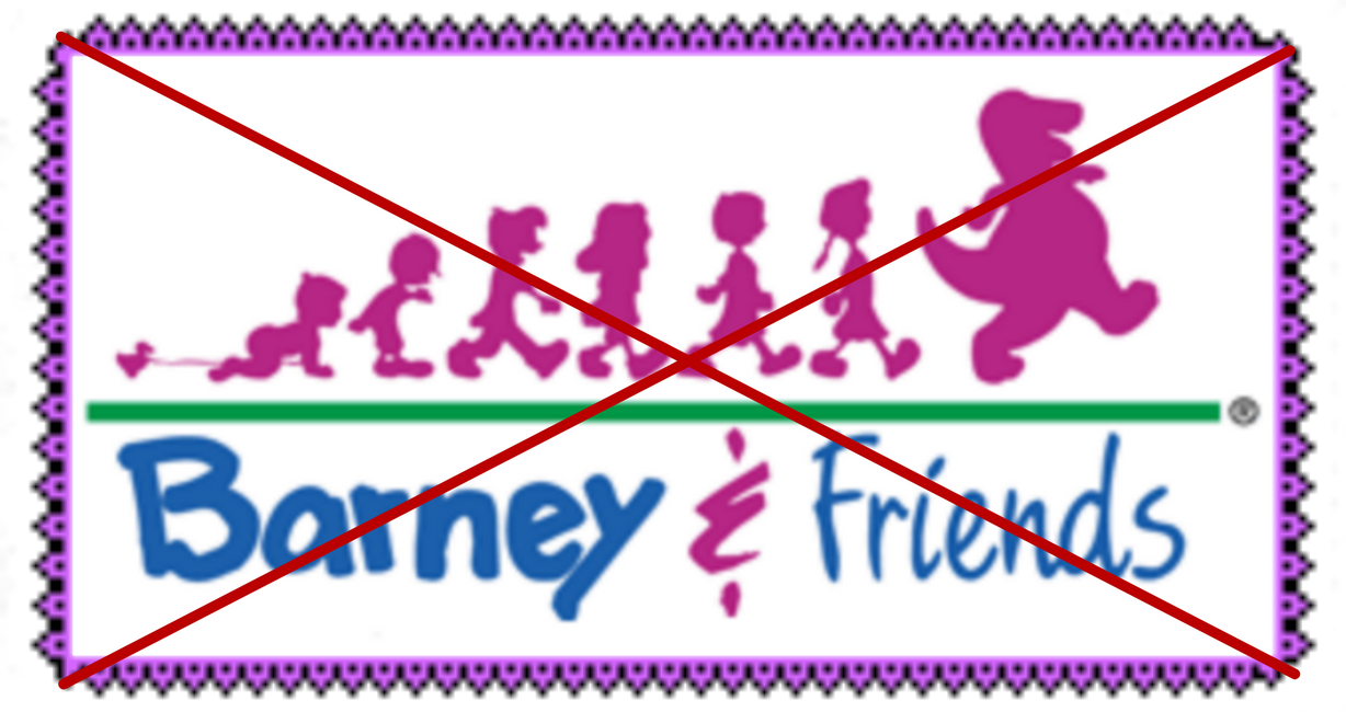 Anti-Barney and Friends Stamp