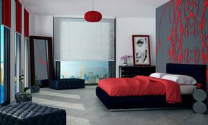 Design of bedroom by ivanaart