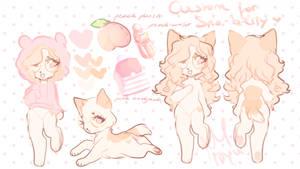 Custom for sno-berry - peach kitty