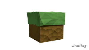 Minecraft Grass - 3D render by Jonilo5