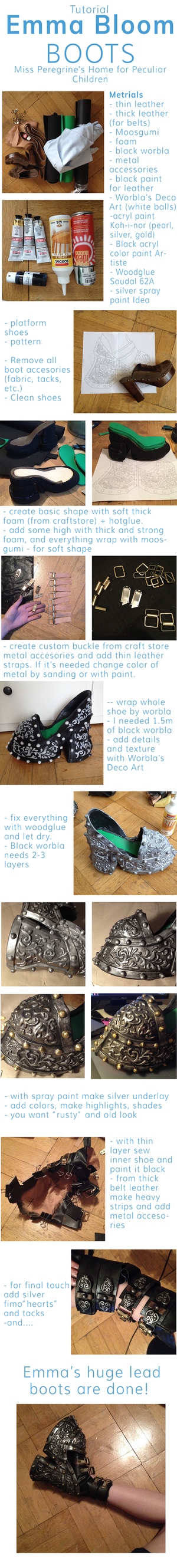 Tutorial - Emma Bloom cosplay boots by Dragowlin