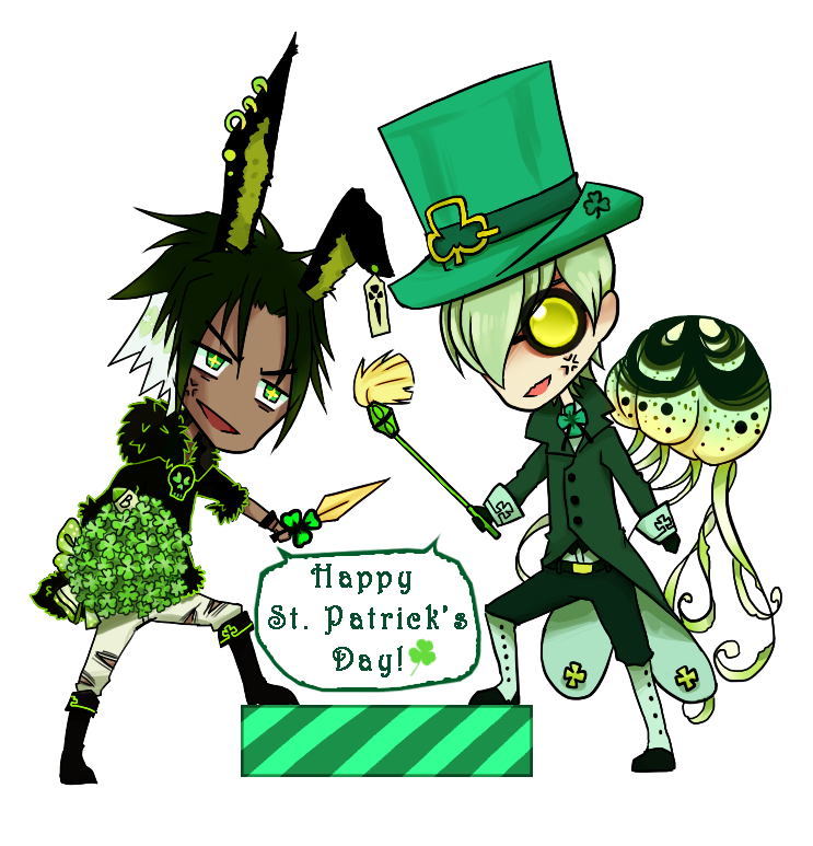 TSS: Happy( maybe late) St  Patrick's day! by Washichan on