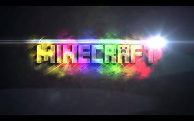 rainbow minecraft background by kate yelkovan by kateyelkovan