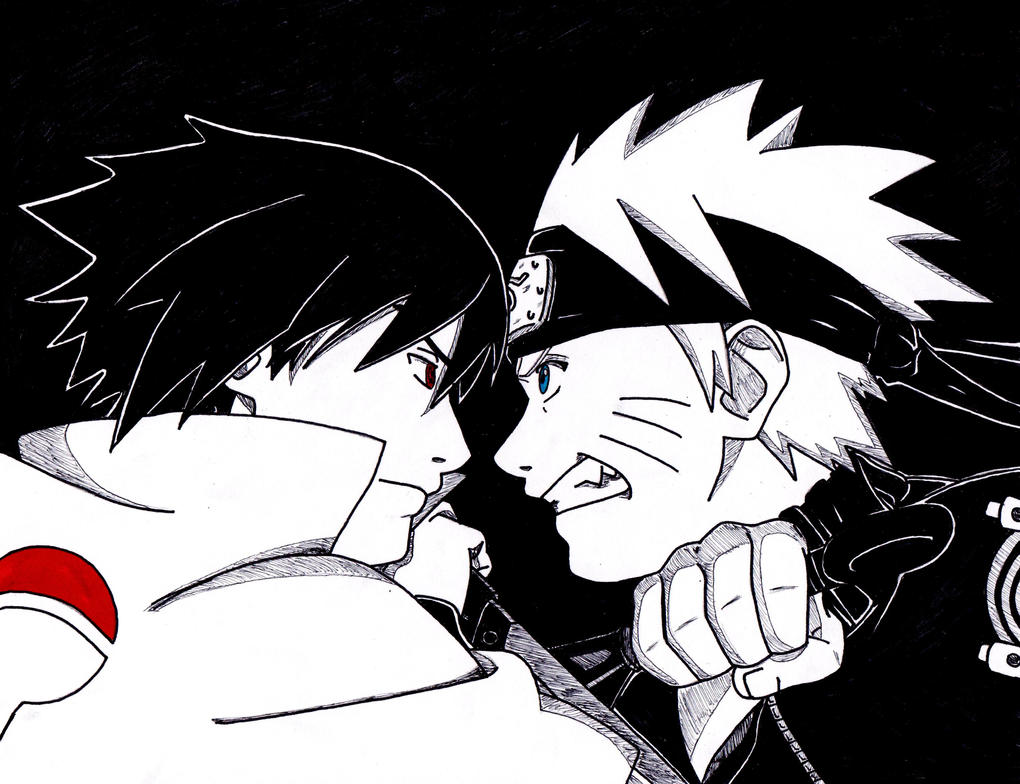 Naruto and Sasuke 'In the End' by lenbeezy