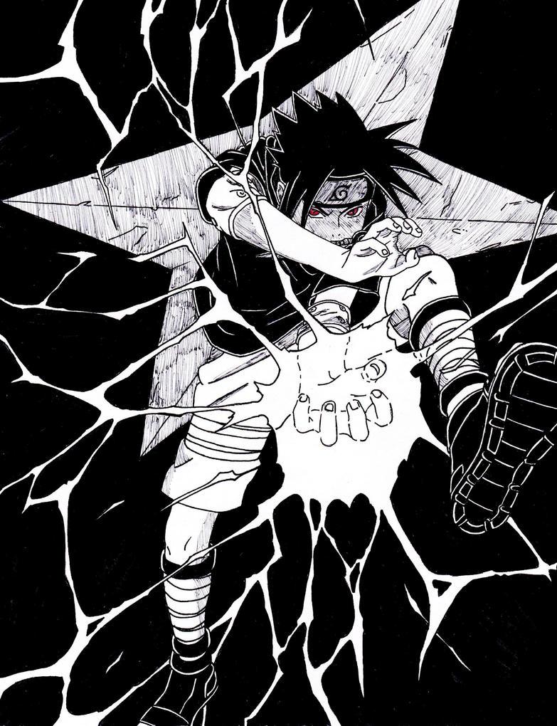 Uchiha Sasuke 'Chidori' by lenbeezy