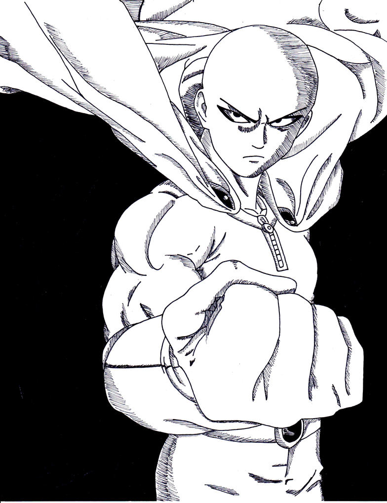 Saitama 'One Punch Man' by lenbeezy