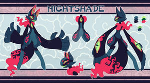 Scarfox Reference Sheet - Nightshade [Commission]