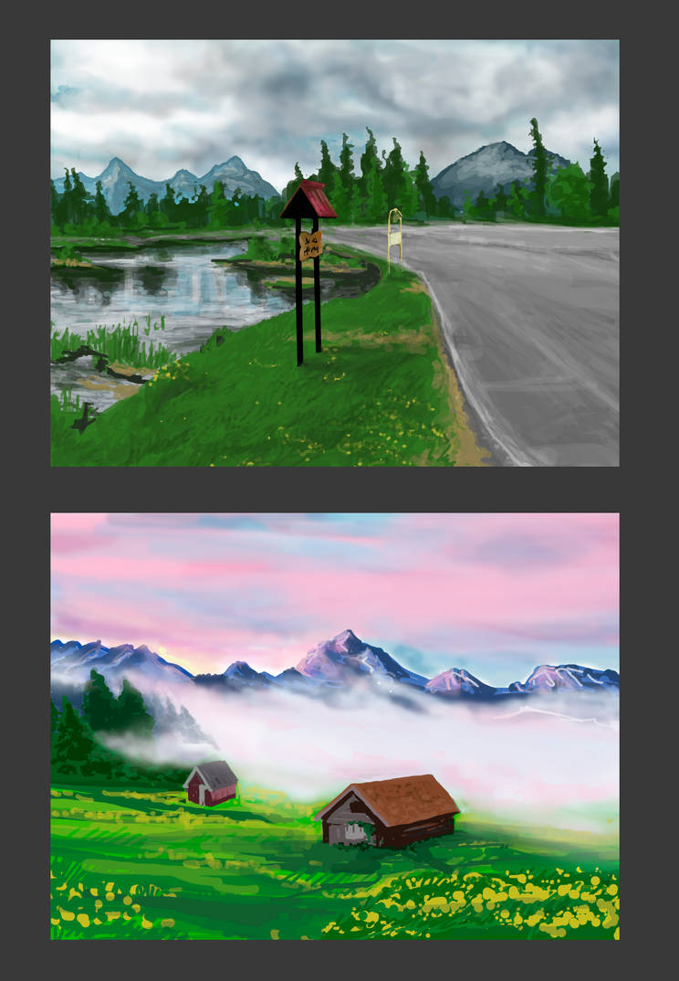 Speed paints Landscape by citreum