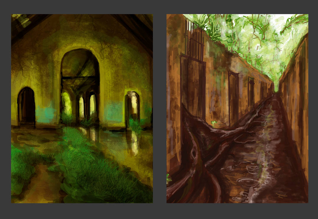 Speed paints Abandoned places by citreum