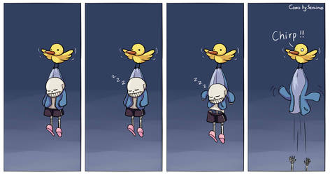 Sans and the little bird by Sericinus