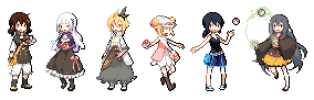 Pokemon OC Sprites by Tapichu