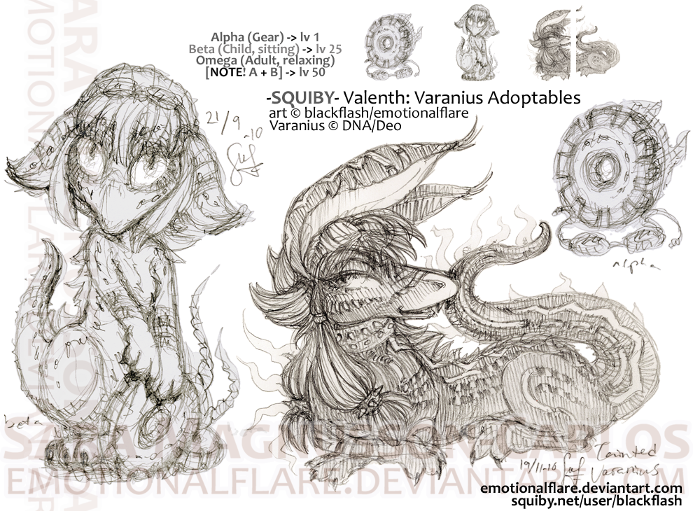 Squiby Varanius Adoptable by emotionalflare