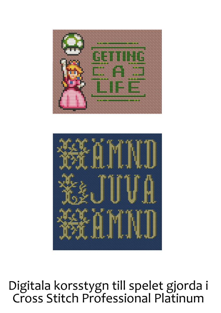 Princess Peach Revenge Digital Cross Stitch 1 by emotionalflare