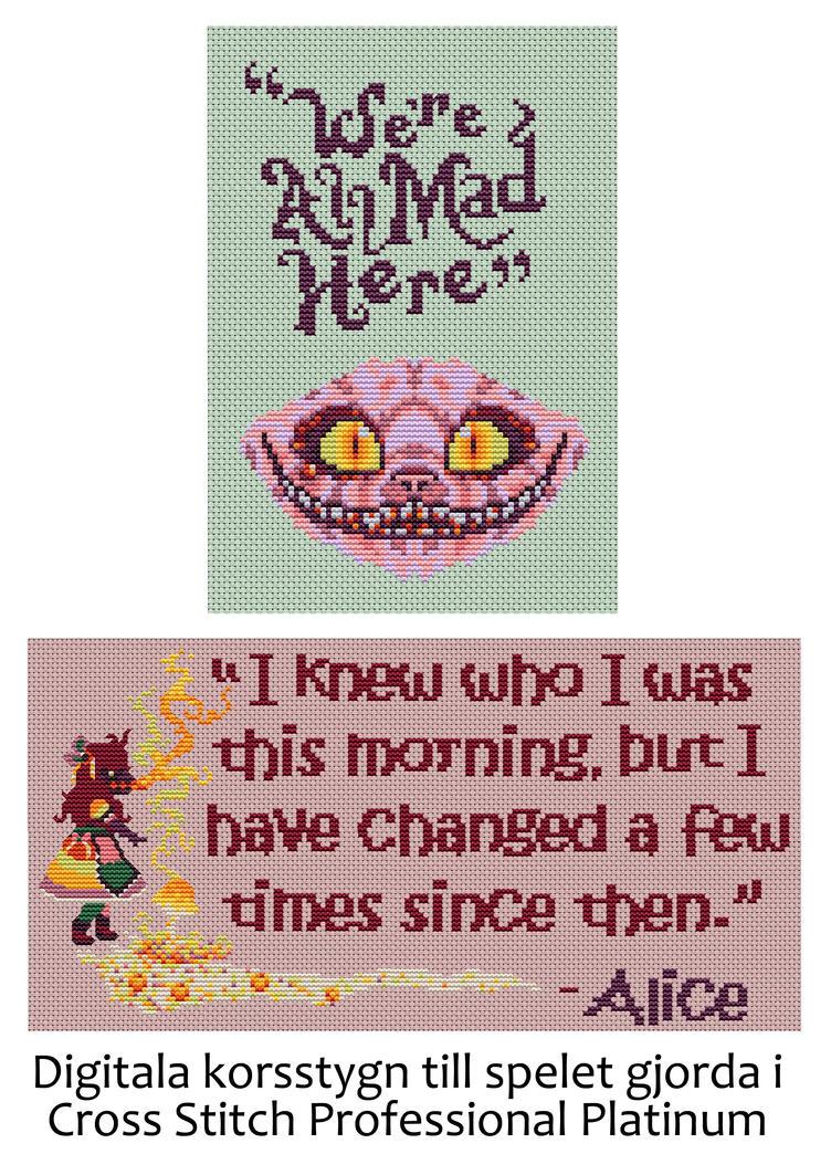 Wonderland Cheshire Cat Digital Cross Stitch 2 by emotionalflare