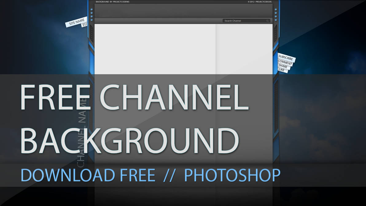 Free YouTube Channel Background (Free Download) by